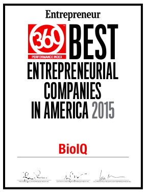 BioIQ Wins Award for Entrepreneurial Best Practices