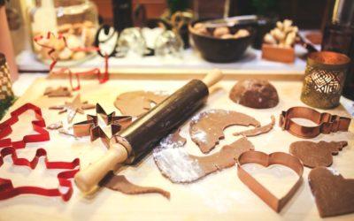 Christmas baking supplies